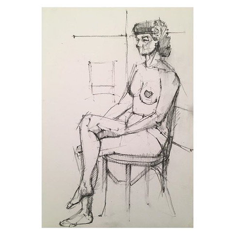 20min drawing of _miss_suzy_saucepot_ modelling at Tuesday night life drawing _love2sketchuk at The Selkirk Tooting #20minute #drawing #art_