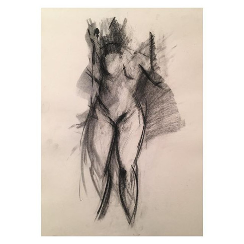 4min _nitramcharcoal charcoal drawing of _violet.empire Thursday night life drawing with The Salacious Sirens at The Antelope, Tooting.jpg