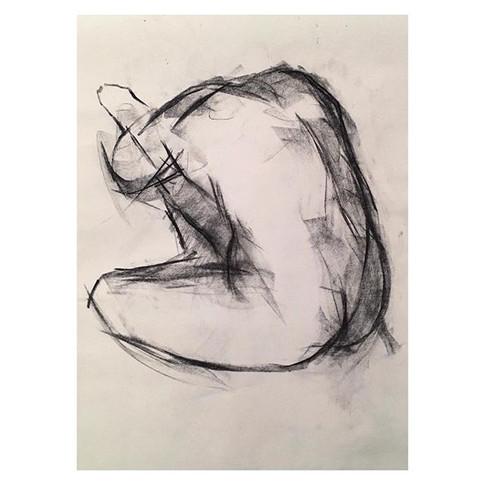 2min study of _kagedouglas at Tuesday night life drawing _love2sketchuk at The Selkirk Tooting #2minute #drawing #art #lifedrawing #charcoal