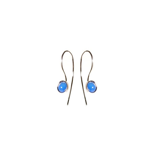 Brinco  Ponto e Virgula - Ágata (azul bic) P