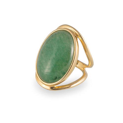 Anel Confort - Quartzo Verde