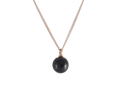 Colar Ball - Black / Rose