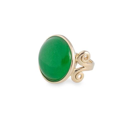 Anel Arabesco Jade