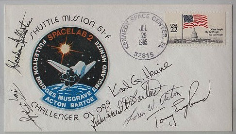 CHALLENGER 51-F Crew Signed