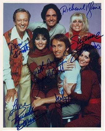THREE'S COMPANY Cast Signed Photo