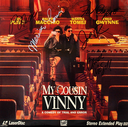 MY COUSIN VINNY Signed Laserdisc Sleeve