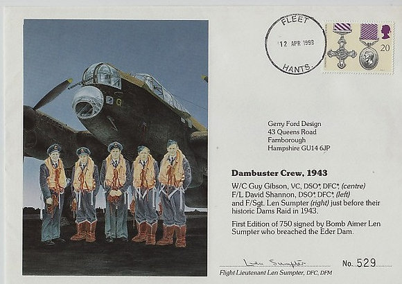 DAMBUSTER Signed Postal Cover