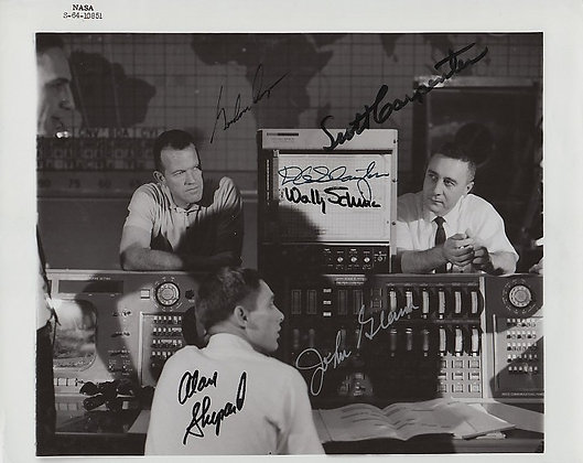 RARE! MERCURY 7 Signed Photo