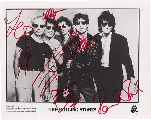 ROLLING STONES Signed Photo
