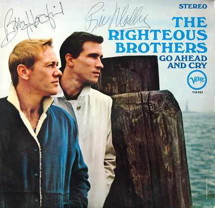 RIGHTEOUS BROTHERS Signed LP Sleeve