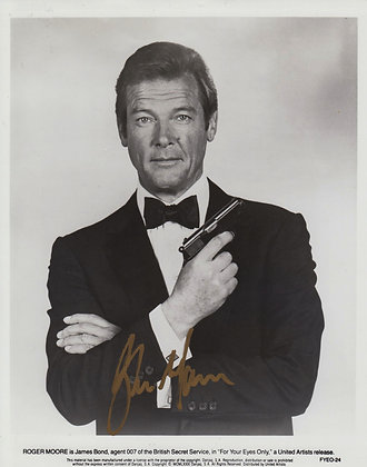 ROGER MOORE Signed Photo