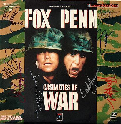 CASUALTIES OF WAR Signed Laserdisc Sleeve