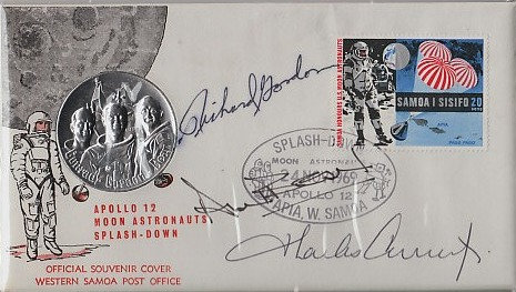 NASA APOLLO 12 Crew Signed