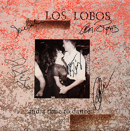 LOS LOBOS Band Signed LP Sleeve