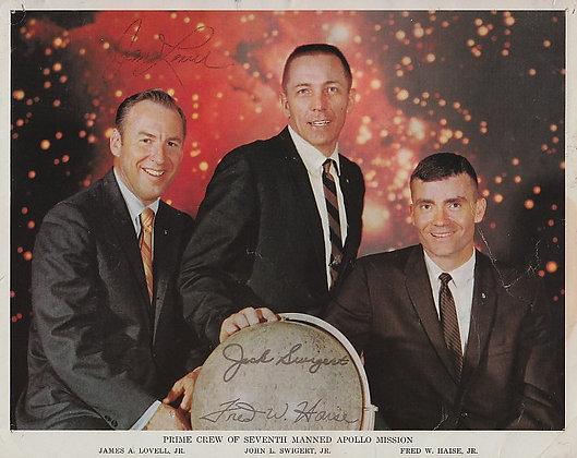 NASA APOLLO 7 Crew Signed