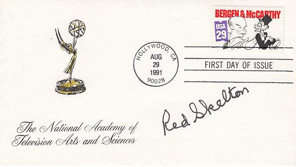 RED SKELTON Signed Postal Cover