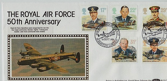 RAF 50th Anniversary Postal Cover