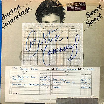 BURTON CUMMINGS Signed LP Sleeve