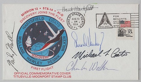 DISCOVERY STS-14 Crew Signed