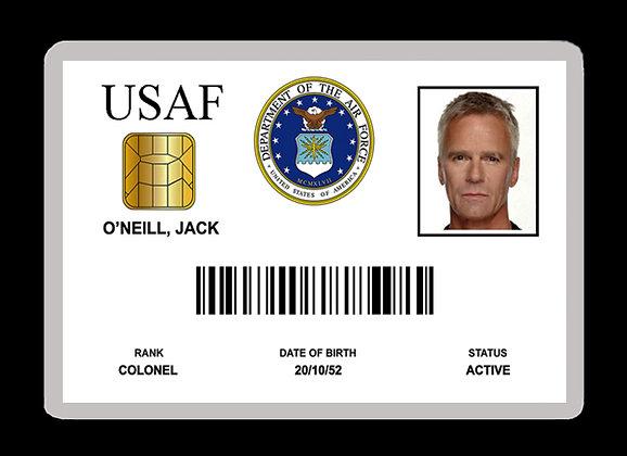 O'Neill USAF ID Card