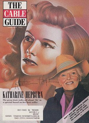 KATHERINE HEPBURN Signed Magazine