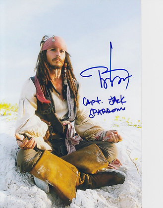JOHNNY DEPP Signed Photo