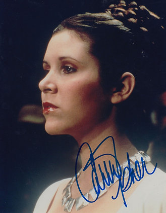 CARRIE FISHER Signed Photo