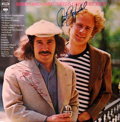 SIMON & GARFUNKEL Signed LP Sleeve