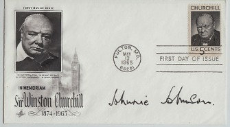 JOHNNIE JOHNSON Signed Postal Cover