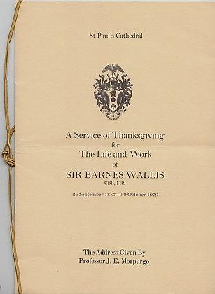 SIR BARNES WALLIS Thanksgiving Program