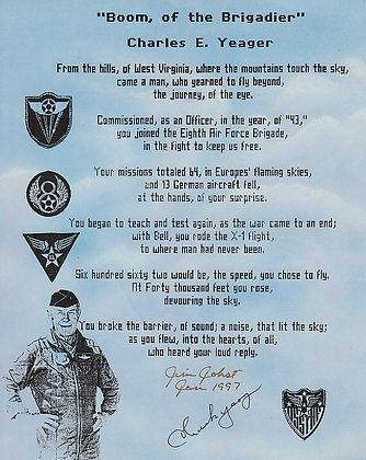 CHUCK YEAGER Autograph
