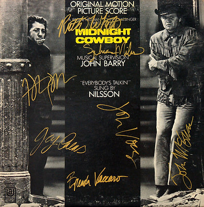 MIDNIGHT COWBOY Signed Laserdisc Cover