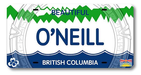 O'NEILL License Plate!