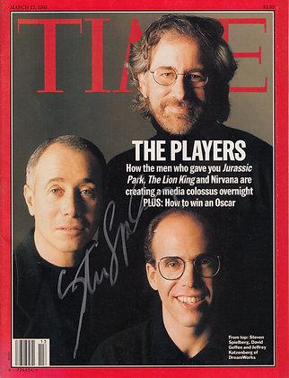 STEPHEN SPIELBERG Signed TIME Magazine