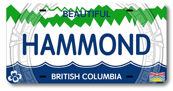 HAMMOND License Plate!