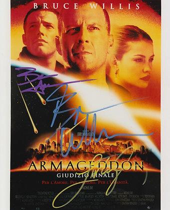 ARMAGEDDON Cast signed photo