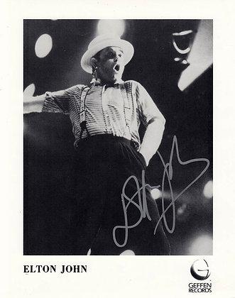ELTON JOHN Signed Photo