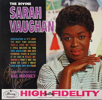 SARAH VAUGHAN Signed LP Sleeve