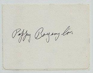 PAPPY BOYINGTON (BLACK SHEEP) Autograph