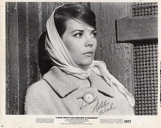 NATALIE WOOD Signed Photo