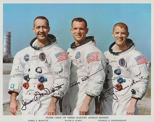 NASA APOLLO 9 Crew Signed
