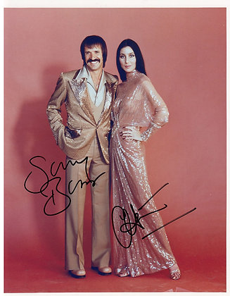 SONNY & CHER Signed Photo