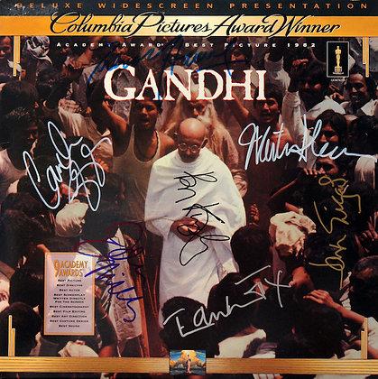 GANDHI Cast Signed Laserdisc Sleeve