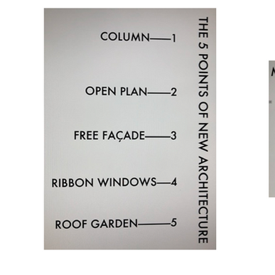 Corb's '5 Points of Architecture' + Material City Planning in 5 Elements + Regulating Lines