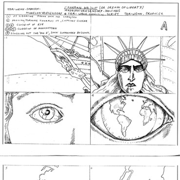 Storyboard from Animation: 'Flagrant Délit' (In the Act), 1979