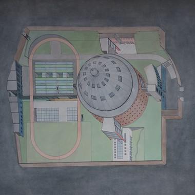 Watercolour for Panoptical Prison