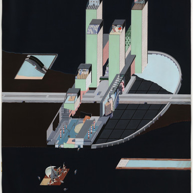 Hotel Project, Roosevelt Island, New York, 1976