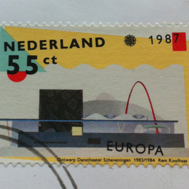 First Day of Issue Stamp, NDT, The Hague, 1987