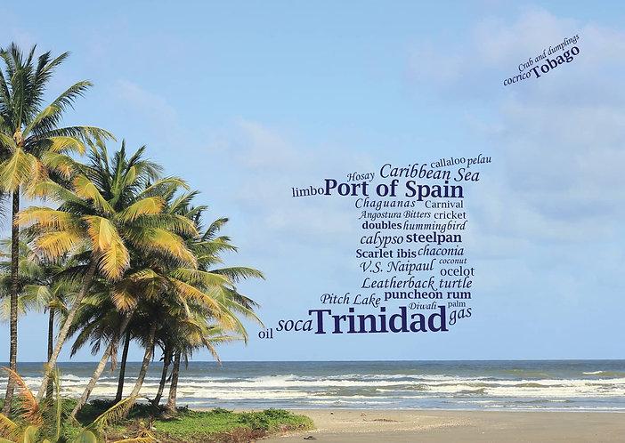 Trinidad and Tobago - WordCloud Postcard