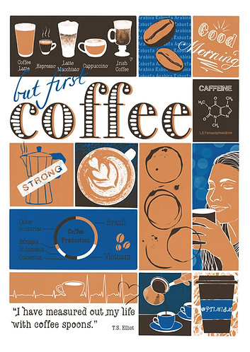 But First Coffee - postcard